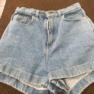 Light denim women's shorts